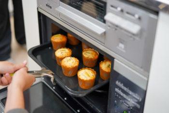 11月は製菓用米粉でつくるチョコバナナマフィン!